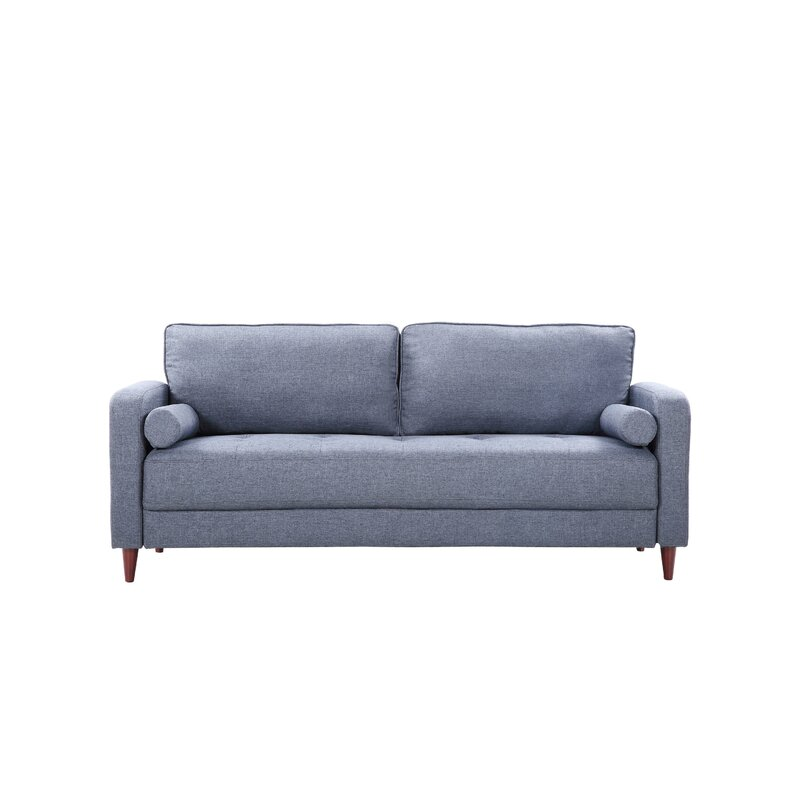 "Corlyn Mid-Century Modern Living Room 77"" Square Arm Sofa"