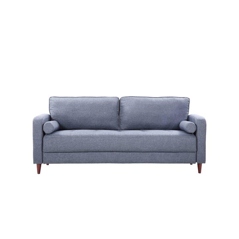Mid Century Modern Linen Fabric Living Room Sofa