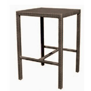 All-Weather Miami Square Counter Wicker Bistro Table