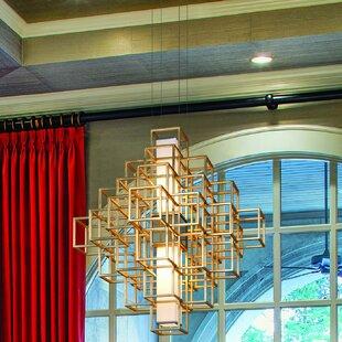 Metropolis 2-Light LED Chandelier by Corbett Lighting
