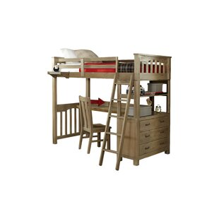 Greyleigh Timberville Loft Bed With Desk