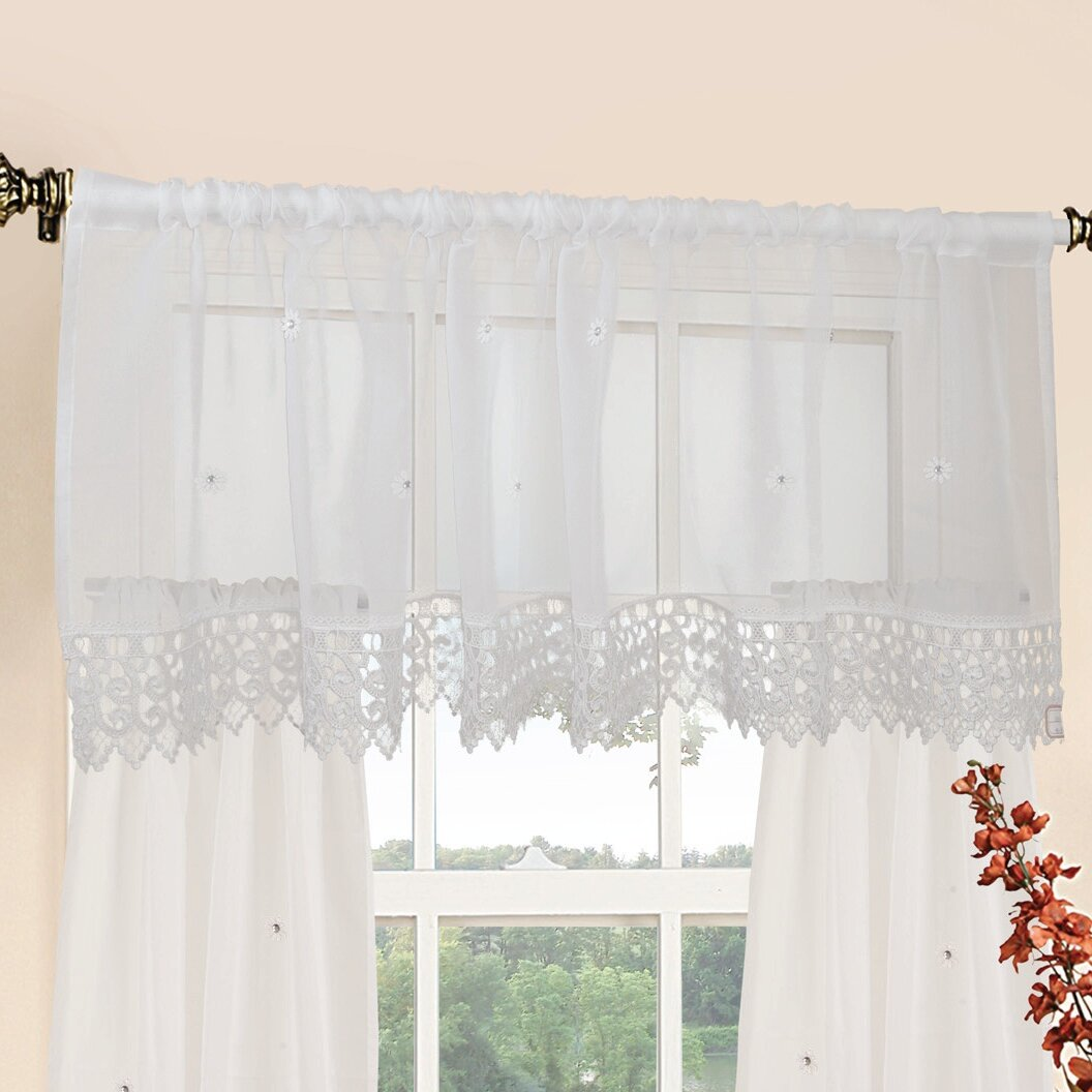 valance tulle strawberry curtains home treatments item from set bedroom tier and curtain swag garden in for on embroidery kitchen window sheer