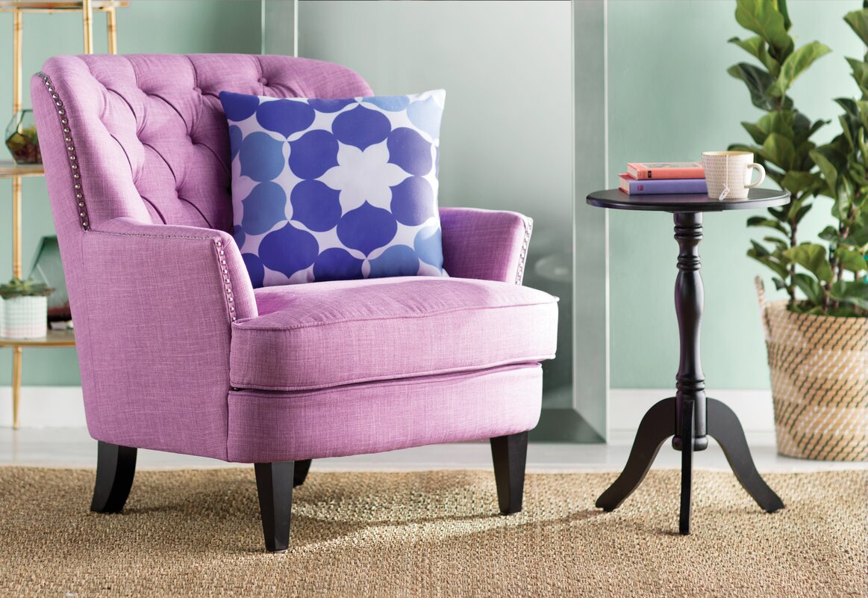 Lark Manor Parmelee Tufted Upholstered Linen Wing back Chair ...