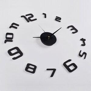 Skelton 3D Frameless Wall Clock in Black