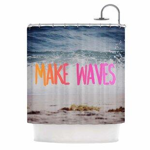 Make Waves Photography Single Shower Curtain