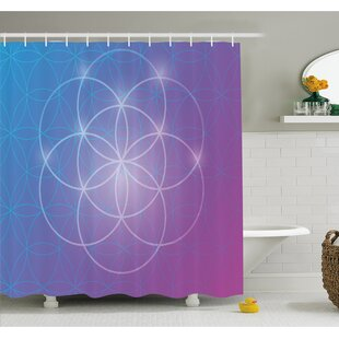 Round Forms in Two Dimensional Space Axis Historical Artifact Image Shower Curtain Set