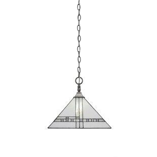 Loon Peak Khona Chain/Square 1-Light Dome Pendant