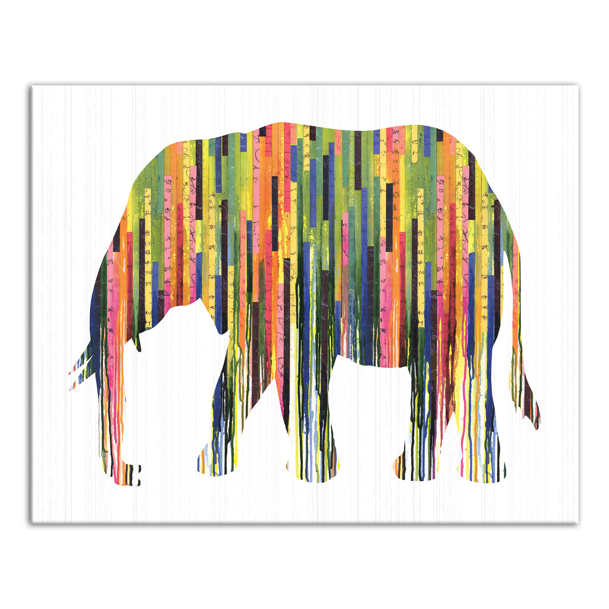 - World Menagerie 'Colorful Elephant' Graphic Art Print On Canvas