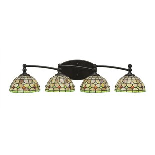 Winston Porter Skypark Modern 4-Light Hardwired Vanity Light