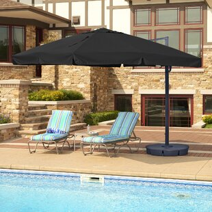 Santorini Ii 10' Square Cantilever Umbrella by Island Umbrella Spacial Price