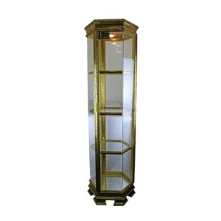 Astoria Grand Schoen Hexagonal Lighted Corner Curio Cabinet