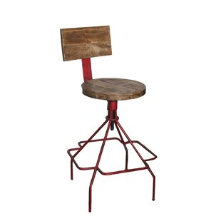 Mac Adjustable Height Bar Stool 17 Stories