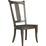 Vintage West Solid Wood Slat Back Side Chair in Dramatic Dark Charcoal (Set of 2) by Hooker Furniture