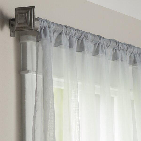 wayfair basics solid sheer rod pocket curtain panels set of 2