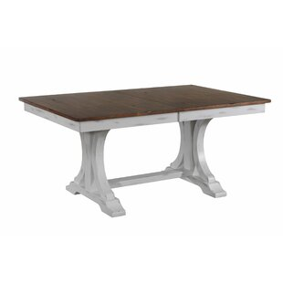 Debbra Extendable Solid Wood Dining Table Gracie Oaks