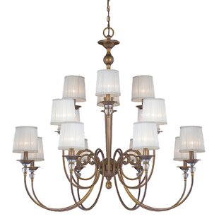 Eurofase Locksley 16-Light Shaded Chandelier