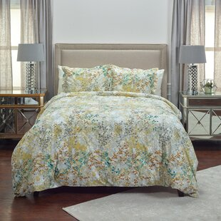 Bungalow Rose Athena 3 Piece Duvet Set