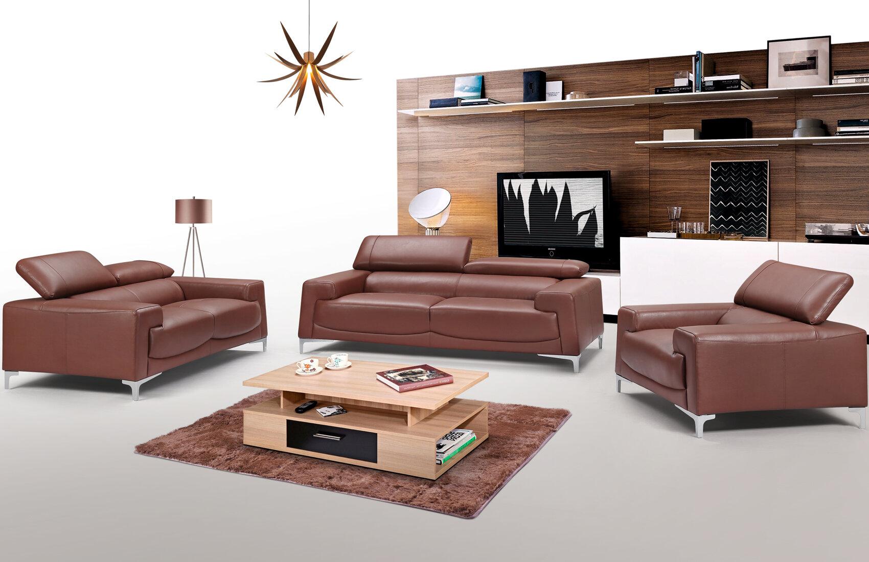 Orren Ellis Canina 3 Piece Living Room Set Wayfair