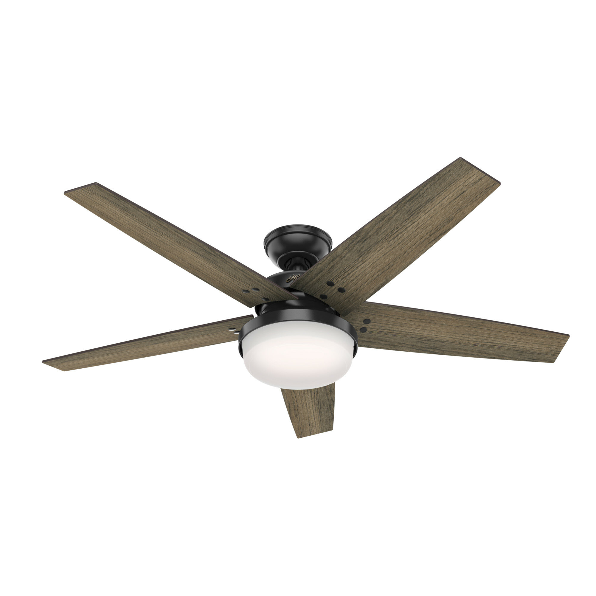 Hunter Fan 52 Brenham 5 Blade Standard Ceiling Fan With Remote Control And Light Kit Included Reviews Wayfair