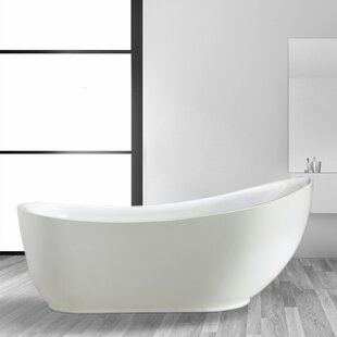 Searching for Everlie 71 x 35 Freestanding Soaking Bathtub ByVinnova