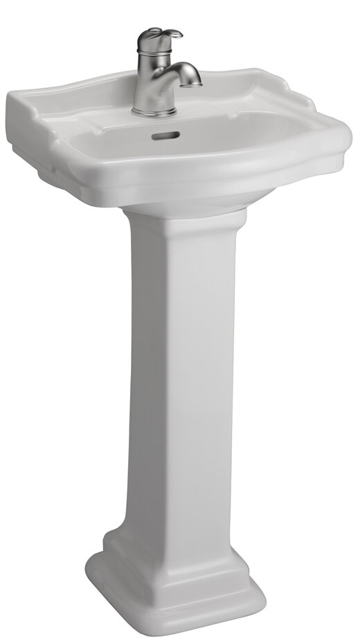 Barclay Stanford 460 Vitreous China Rectangular Pedestal Bathroom Sink With  Overflow U0026 Reviews | Wayfair