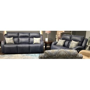 Grand Slam 2 Piece Leather Reclining Living Room Set