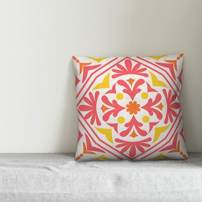 Resendiz Bold Tile Indoor/Outdoor Throw Pillow by Bungalow Rose Bargain