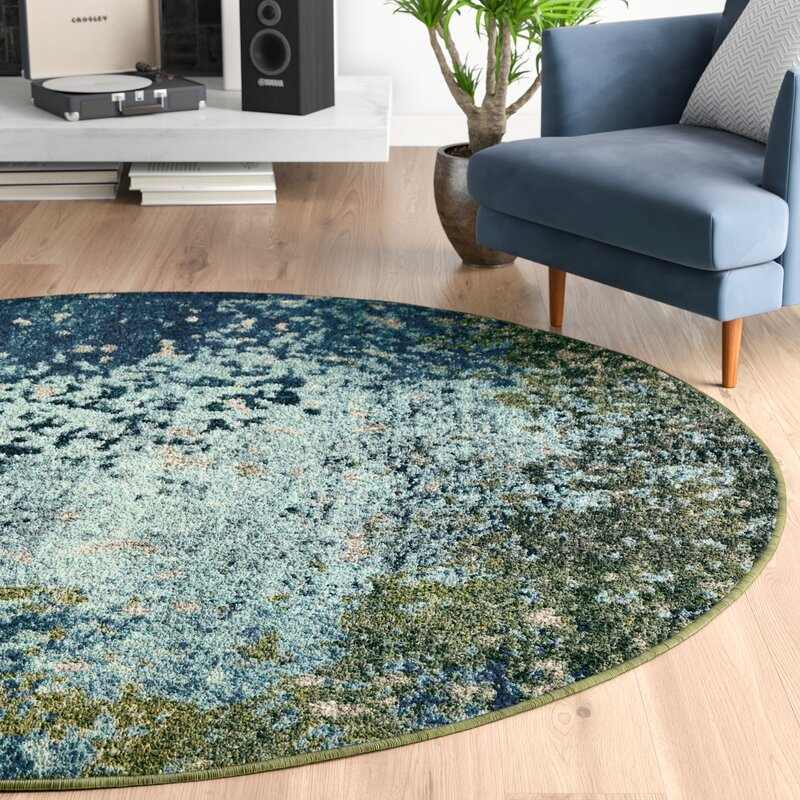 Hayes Abstract Blue Green Area Rug Amp Reviews Allmodern