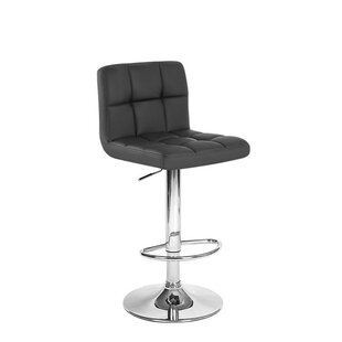 Simard Adjustable Height Swivel Bar Stool Orren Ellis