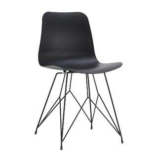 Alviva Solid Back Side Chair in Black (Set of 2) by Wrought Studio SKU:BB575410 Information