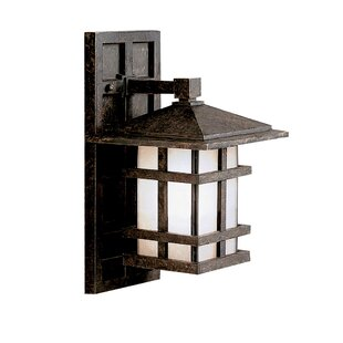 Order Harper 1-Light Outdoor Wall Lantern By Loon Peak