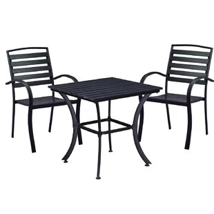 Wrought Studio Galliher Modern Contemporary 3 Piece Bistro Set