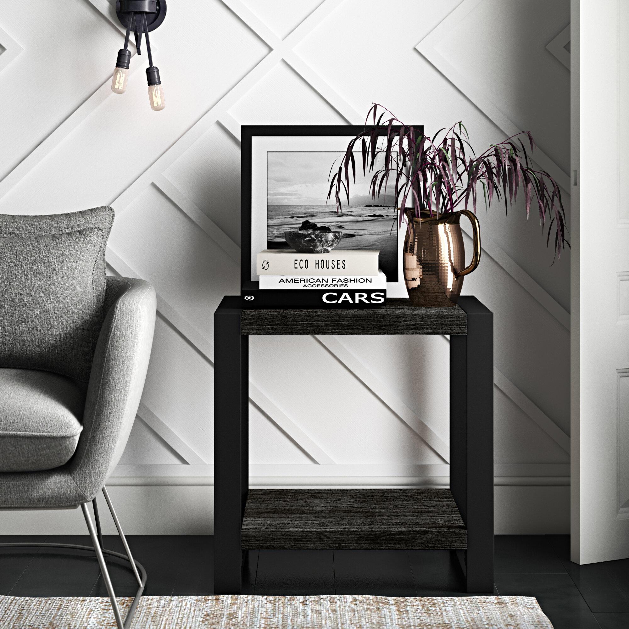 Mercury Row Theodulus Sled End Table With Storage Reviews Wayfair