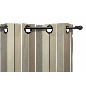Striped Semi-Sheer Single Grommet Curtain Panel