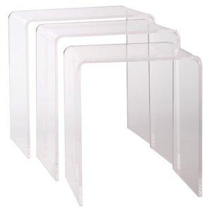 3 Piece Larissa Acrylic Nesting Table Set