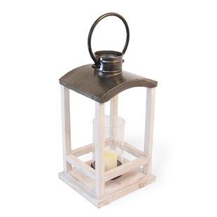 Metal/Wood Lantern by Gracie Oaks