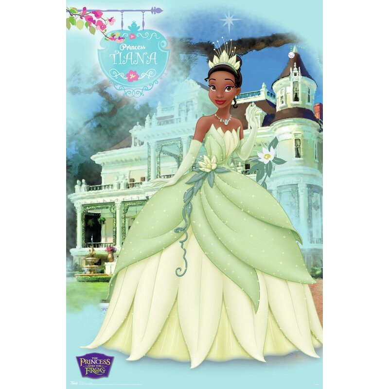 AA PRINCESS /& THE FROG PRINT Choose Size /& Media Type Canvas or Poster Print