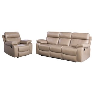 Mellor 2 Piece Leather Living Room Set by Red Barrel Studio