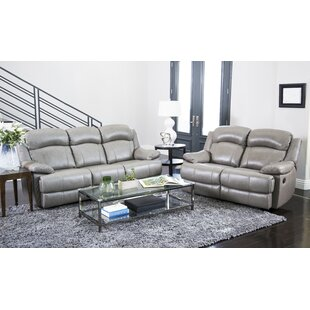 Cuyler Reclining 2 Piece Leather Living Room Set by DarHome Co