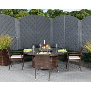 Ernst 4 Seater Dining Set With Cushions By Sol 72 Outdoor