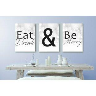 Eat Drink Be Merry Wall Art Wayfair