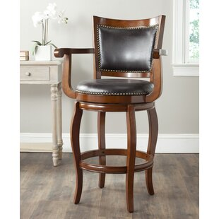 League 29 Swivel Bar Stool Millwood Pines
