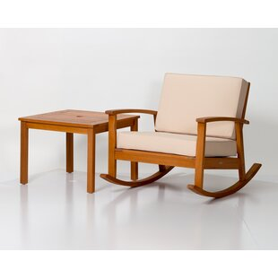 Equipoise Rocking Chair with Cushions Millwood Pines