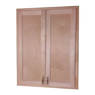 Comparison Christopher 29 x 19 Recessed Medicine Cabinet By WG Wood Products