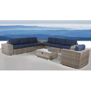 Bustillos 11 Piece Sunbrella Sectional Set with Cushions