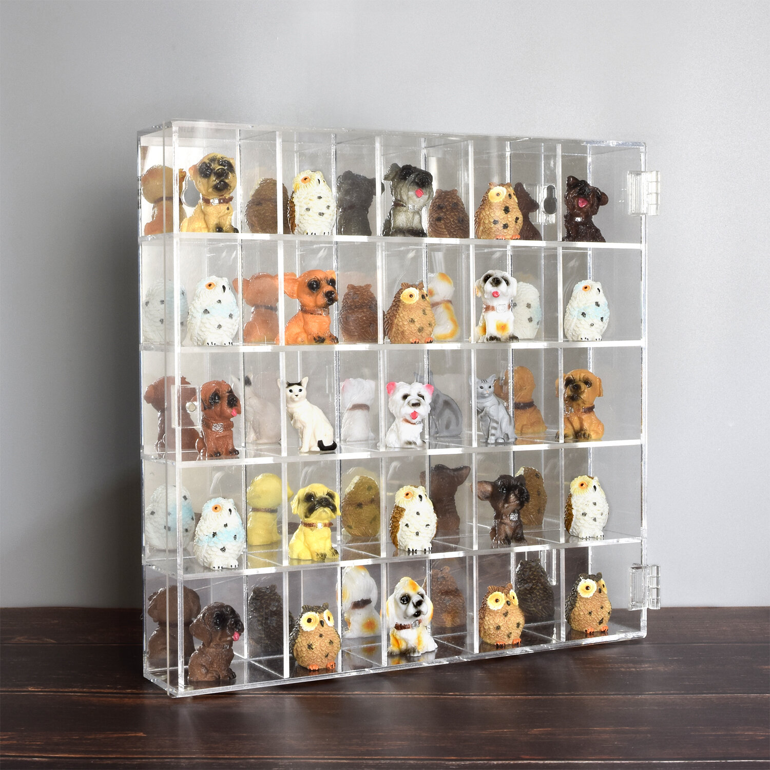 Collectible Miniatures Locking Display Case Cabinet Wall Mount or CounterTop