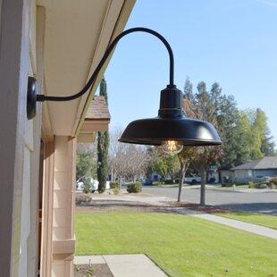 Outdoor gooseneck barn light wayfair chenier 1 light outdoor barn light aloadofball Image collections