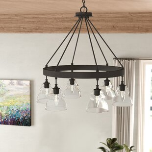 Laurel Foundry Modern Farmhouse Arla 6-Light Shaded Chandelier