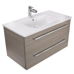 30 bathroom vanity with sink and drawers. Silhouette 30  Wall Mounted Single Bathroom Vanity Set Modern Vanities Cabinets AllModern