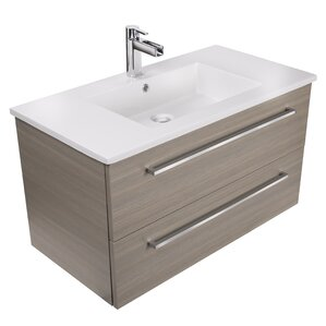 Silhouette 36  Wall Mounted Single Bathroom Vanity Set Modern Vanities Cabinets AllModern